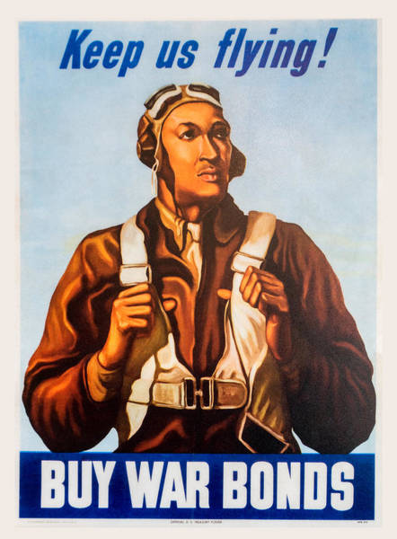 Digital Art - Keep Us Flying War Bond Poster by SR Green