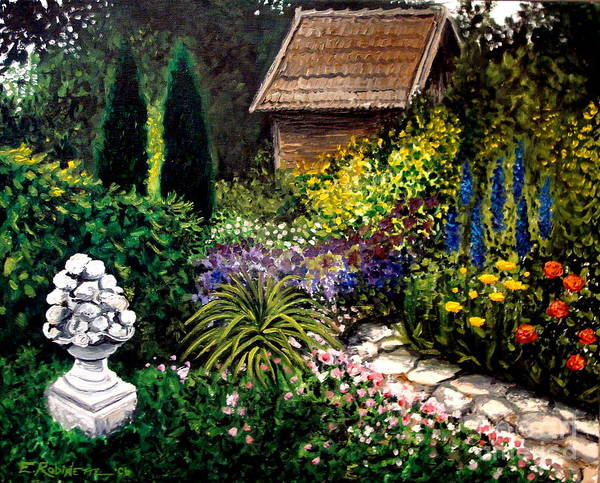 Painting - Keeper Of The Garden by Elizabeth Robinette Tyndall