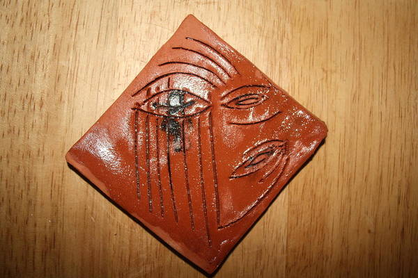 Ceramic Art - Keepers Eye - Tile by Gloria Ssali