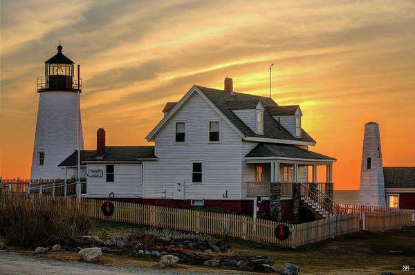 Photograph - Keeper's House At Pemaquid by John Meader