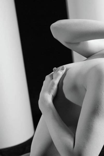 Keeping A Breast 2 Art Print
