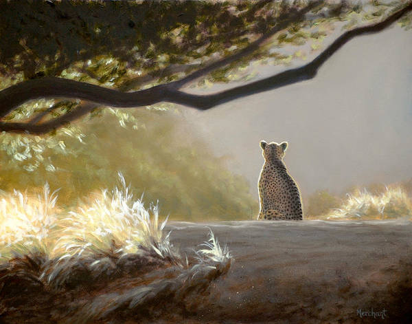 Painting - Keeping Watch - Cheetah by Linda Merchant