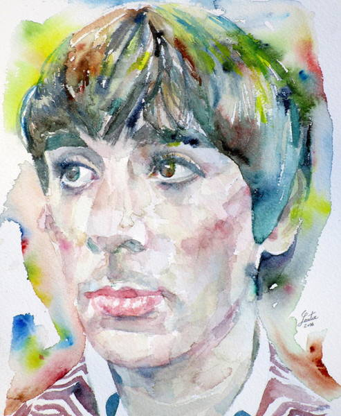 Wall Art - Painting - Keith Moon - Watercolor Portrait.2 by Fabrizio Cassetta