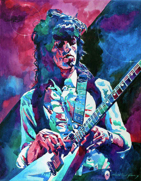 Electric Blues Painting -  Keith Richards A Rolling Stone by David Lloyd Glover