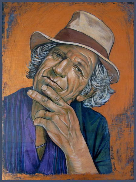 Painting - Keith Richards by Jovana Kolic