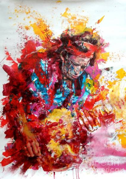 Wall Art - Painting - Keith Richards by Massimo Chioccia