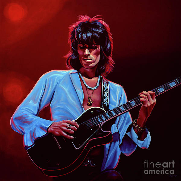 Finger Painting - Keith Richards The Riffmaster by Paul Meijering
