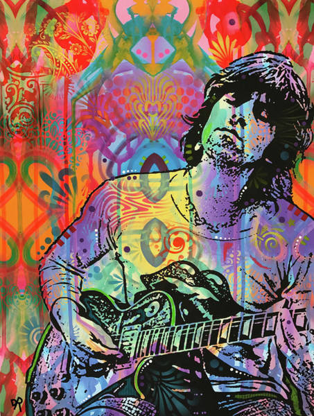 Wall Art - Painting - Keith Richards Zone by Dean Russo Art