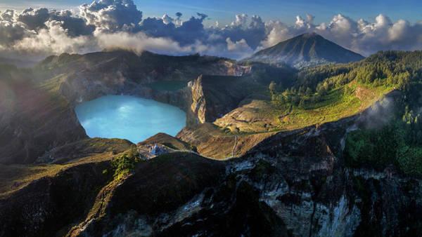 Photograph - Kelimutu Volcano Panoramic View by Pradeep Raja PRINTS