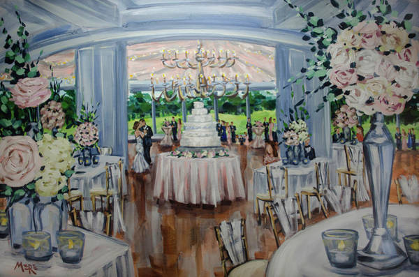 Country Wedding Painting - Kelli And Quinn by Meredith Piper