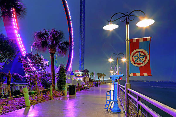 Photograph - Kemah Boardwalk - Amusement Park - Texas by Jason Politte