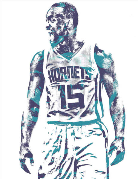Wall Art - Mixed Media - Kemba Walker Charlotte Hornets Pixel Art 21 by Joe Hamilton