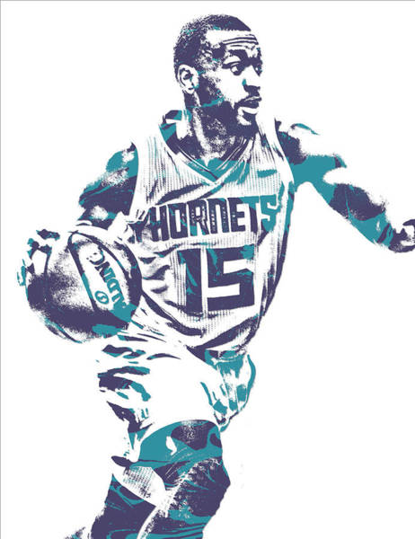 Wall Art - Mixed Media - Kemba Walker Charlotte Hornets Pixel Art 23 by Joe Hamilton