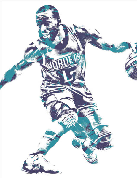 Wall Art - Mixed Media - Kemba Walker Charlotte Hornets Pixel Art 24 by Joe Hamilton