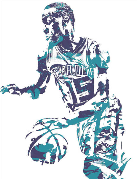 Wall Art - Mixed Media - Kemba Walker Charlotte Hornets Pixel Art 27 by Joe Hamilton