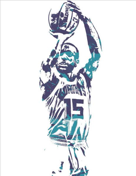 Wall Art - Mixed Media - Kemba Walker Charlotte Hornets Pixel Art 28 by Joe Hamilton