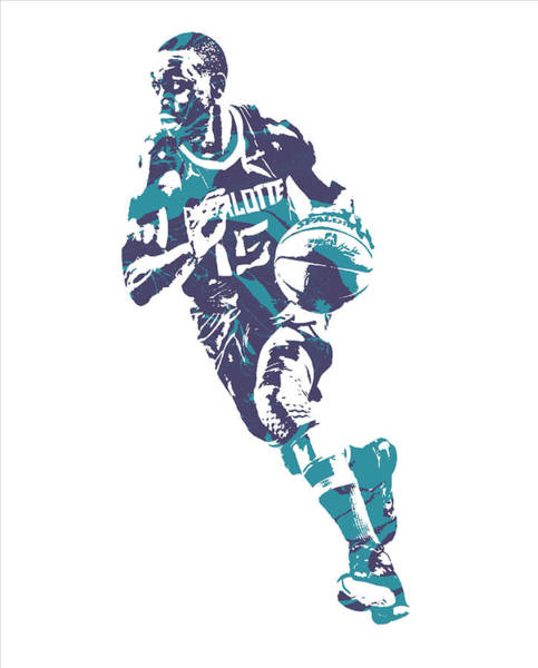 Wall Art - Mixed Media - Kemba Walker Charlotte Hornets Pixel Art 60 by Joe Hamilton