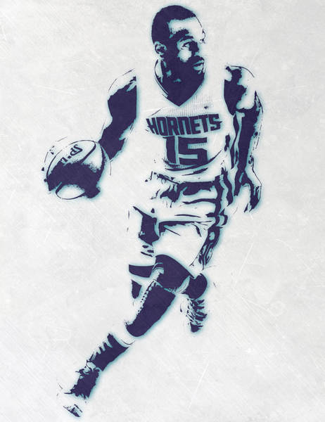 Wall Art - Mixed Media - Kemba Walker Charlotte Hornets Pixel Art by Joe Hamilton