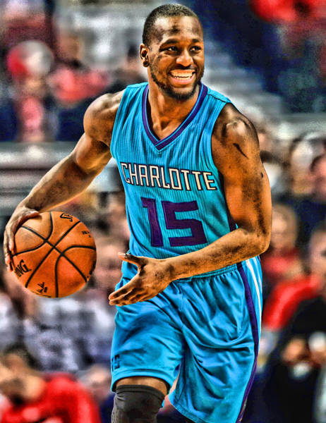 Wall Art - Mixed Media - Kemba Walker Charlotte Hornets Player Art 1 by Joe Hamilton