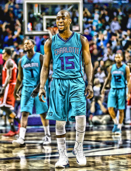 Wall Art - Mixed Media - Kemba Walker Charlotte Hornets Player Art 2 by Joe Hamilton