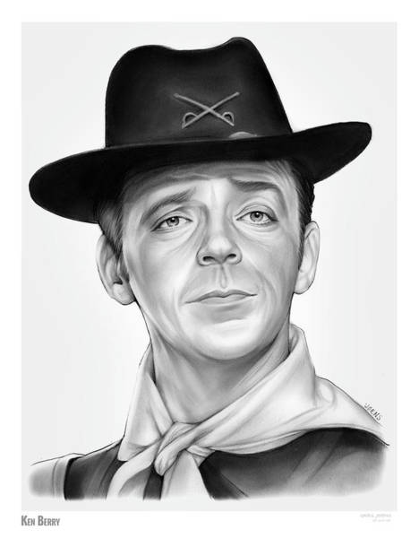 Wall Art - Drawing - Ken Berry by Greg Joens