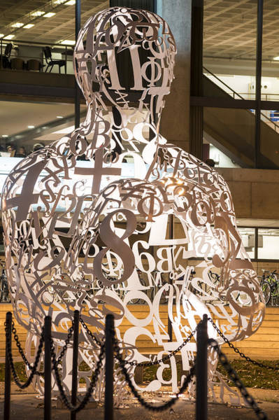 Photograph - Kendall Square Mit Alchemist Statue Vertical by Toby McGuire
