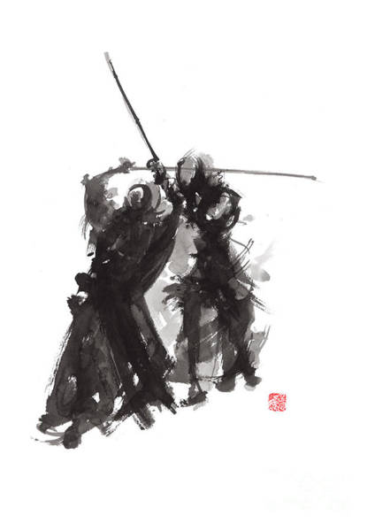 Wall Art - Painting - Kendo by Mariusz Szmerdt