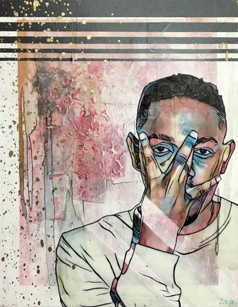David Choe Painting - Kendrick by Bobby Zeik