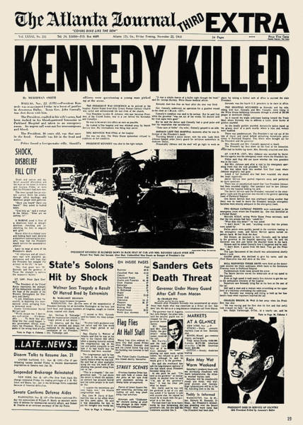 Photograph - Kennedy Assassination, 1963 by Granger