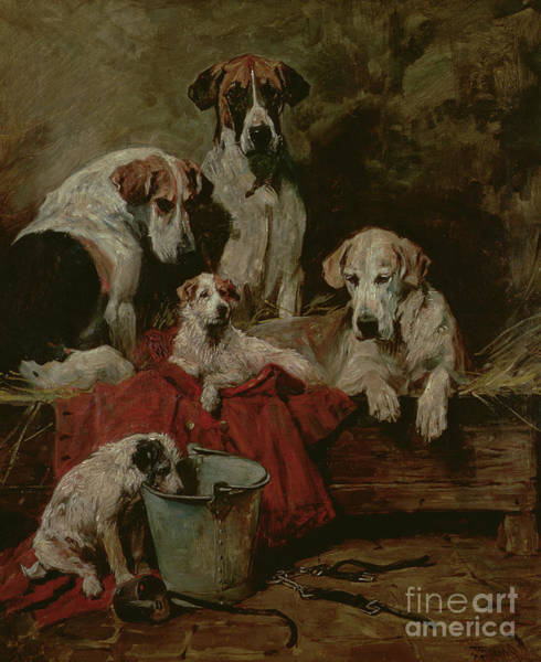 Painting - Kennel Companions by John Emms