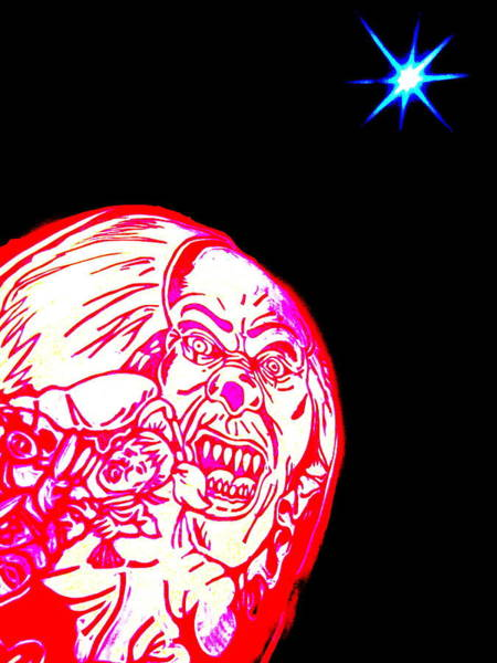 The Joker Photograph - Kennens Carved Pumpkin And Moon by John King