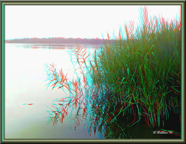 Anaglyph Photograph - Kennersley Pt Marina - Use Red/cyan 3d Glasses by Brian Wallace