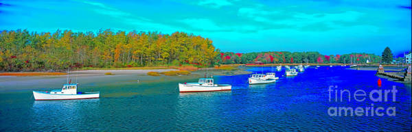 Photograph - Kennebunkport, Maine, Lobster Boats by Tom Jelen