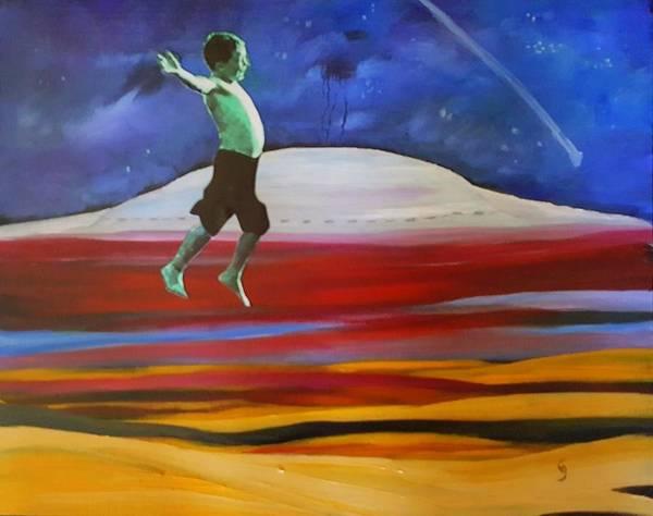 Painting - Kenny Jumpin For Joy   88 by Cheryl Nancy Ann Gordon