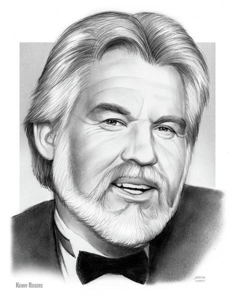 Wall Art - Drawing - Kenny Rogers by Greg Joens
