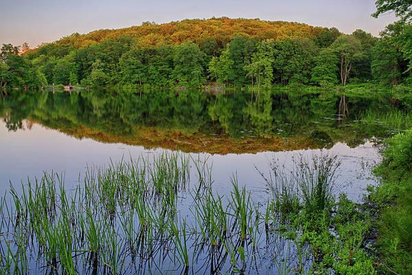 Photograph - Kenoza Lake Reflection Haverhill Ma by Toby McGuire