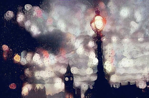 Mixed Media - Kensington Rain by Susan Maxwell Schmidt