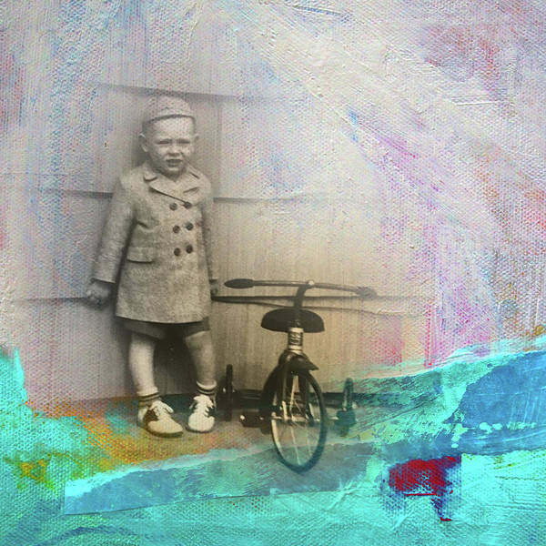 Teal Mixed Media - Kent Tricycle by Nancy Merkle