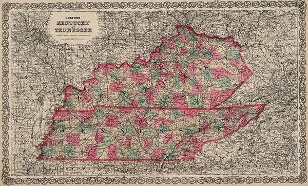 Wall Art - Painting - Kentucky And Tennessee by Colton