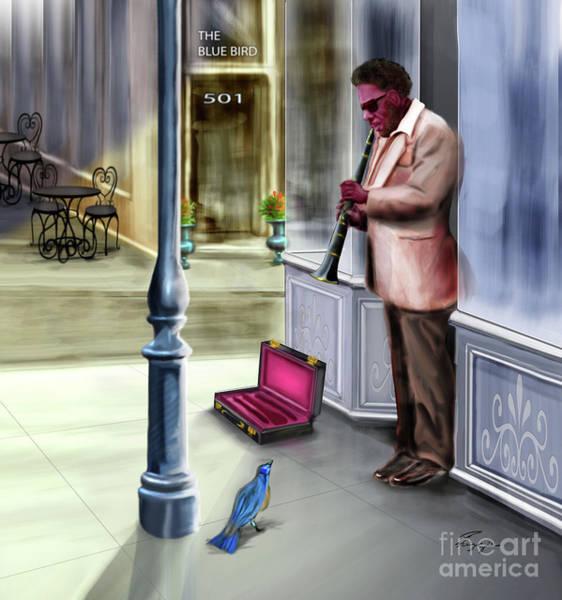 Painting - Kentucky Blue Bird by Reggie Duffie