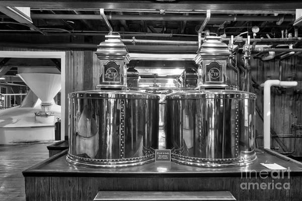 Photograph - Kentucky Bourbon Pot Stills Black And White by Mel Steinhauer