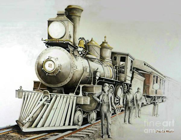 Drawing - Kentucky Iron Horse by David Neace
