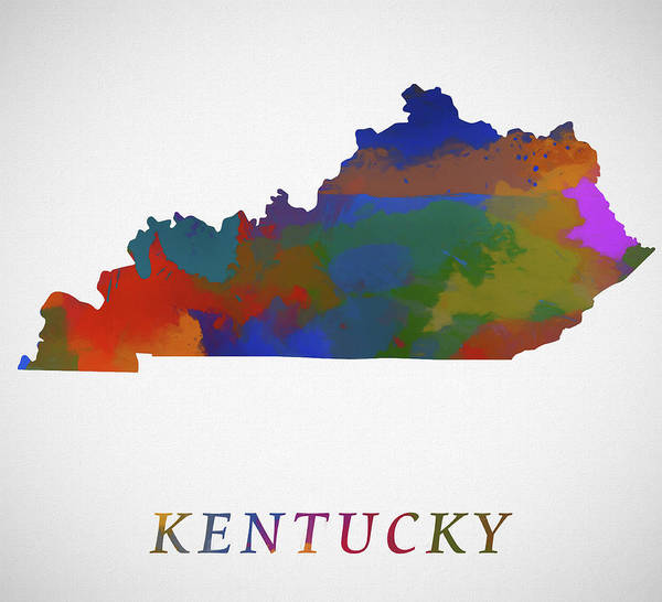 Painting - Kentucky Map by Dan Sproul