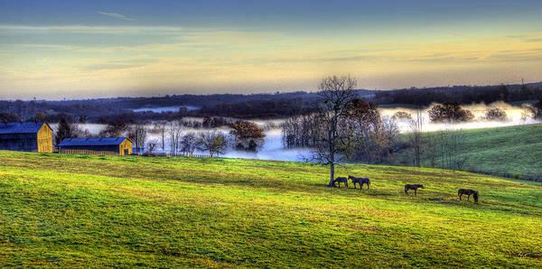 Photograph - Kentucky Morning Mist 2 by Sam Davis Johnson