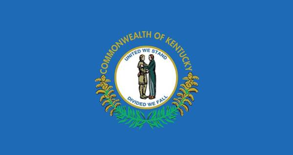 Painting - Kentucky State Flag by American School