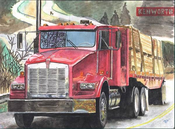 Kenworth Painting - Kenworth In Action by Diego Esquivel