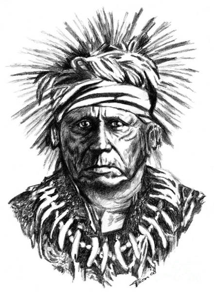 Drawing - Keokuk 1767-1848 by Toon De Zwart