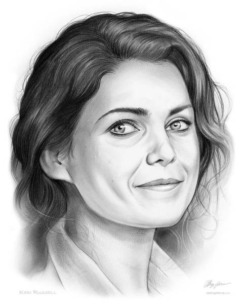Actress Drawing - Keri Russell by Greg Joens