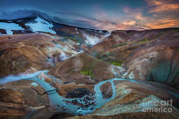 Photograph - Kerlingarfjoll Twilight by Inge Johnsson