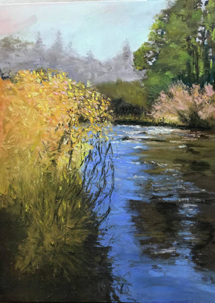Pastel - Kern River On A Fall Day by Dennis Sullivan